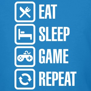 Eat sleep game repeat T-Shirts - Männer Bio-T-Shirt