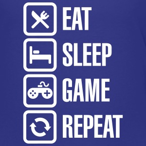 Eat sleep game repeat Tee shirts - T-shirt Premium Ado