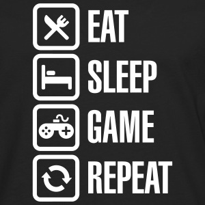 Eat sleep game repeat Manches longues - T-shirt manches longues Premium Homme