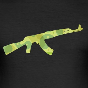 AK 47 - Kalashnikov T-Shirts - Men's Slim Fit T-Shirt
