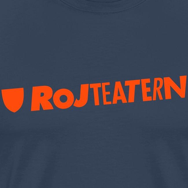 T-shirt herr logga blå/orange