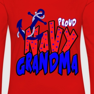 Proud Navy Grandma Long Sleeve Shirts - Women's Premium Longsleeve Shirt