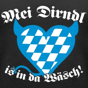 Mei Dirndl is in da Wäsch! Tops - Frauen Premium Tank Top