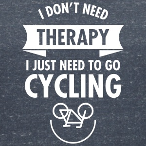 I Don't Need Therapy - I Just Need To Go Cycling T-shirts - Dame-T-shirt med V-udskæring