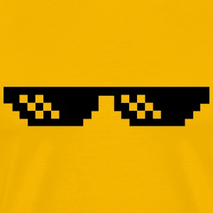 Pixelbrille Thug Life Deal with it Sonnebrille T-Shirts - Männer Premium T-Shirt