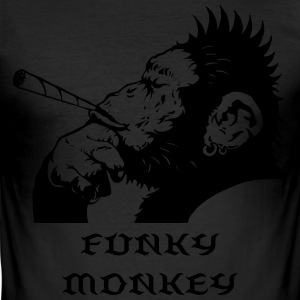 Funky Monkey T-Shirts - Men's Slim Fit T-Shirt