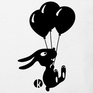 Flying Rabbit with Balloons T-shirts - Ekologisk T-shirt barn