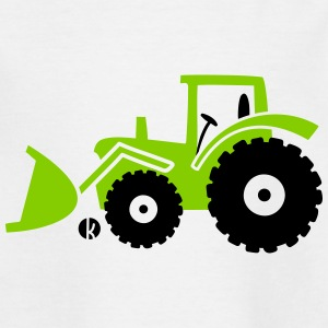 Tractor front loader Bulldog wheel loader with bucket T-shirts - T-shirt barn