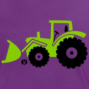 Tractor front loader Bulldog wheel loader with bucket T-shirts - Vrouwen contrastshirt