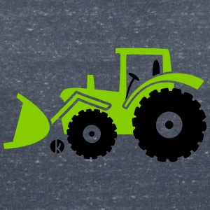 Tractor front loader Bulldog wheel loader with bucket T-shirts - T-shirt med v-ringning dam