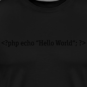 PHP Hello World Tee shirts - T-shirt Premium Homme