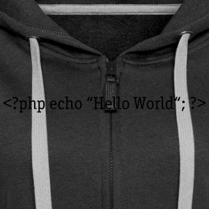 PHP Hello World Sweat-shirts - Veste à capuche Premium Femme