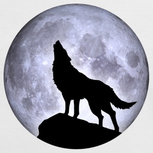 Wolf Vollmond Halloween Nacht Albtraum nightmare - Frauen Kontrast-T-Shirt