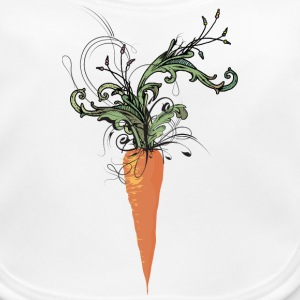 floral carrot Accessories - Baby Organic Bib