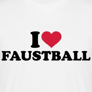 I love Faustball T-Shirts - Männer T-Shirt