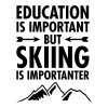 Education Is Important - But Skiing Is Importanter T-Shirts - Men's V-Neck T-Shirt