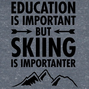 Education Is Important - But Skiing Is Importanter T-shirts - Mannen T-shirt met V-hals