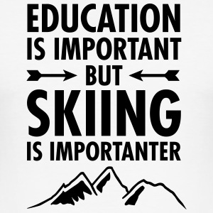 Education Is Important - But Skiing Is Importanter T-shirts - Herre Slim Fit T-Shirt
