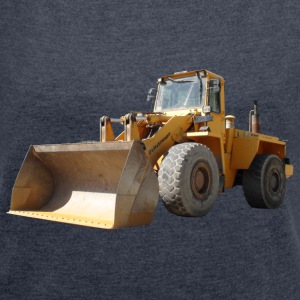 wheel loader_oldtimer T-Shirts - Women's T-shirt with rolled up sleeves