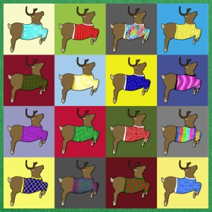 16 reindeer sweater Bags & Backpacks - Shoulder Bag made from recycled material