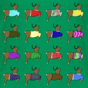 16 reindeer sweater Skjorter - Premium T-skjorte for barn