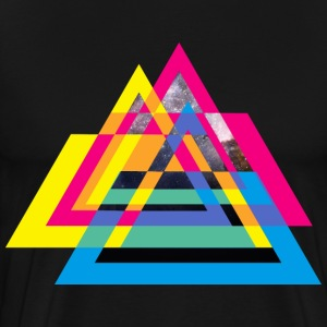 CMYB Triangle Tee shirts - T-shirt Premium Homme