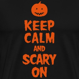 Keep Calm And Scary On T-shirts - Mannen Premium T-shirt