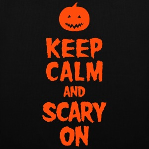 Keep Calm And Scary On Tassen & rugzakken - Tas van stof