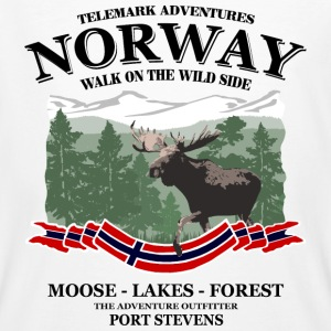 Norway - Moose, Lakes & Forest T-Shirts - Männer Bio-T-Shirt
