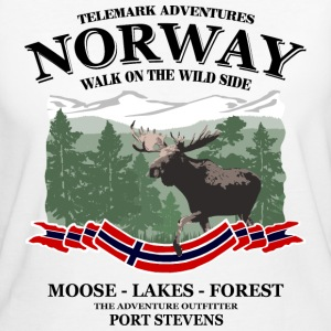Norway - Moose, Lakes & Forest T-Shirts - Frauen Bio-T-Shirt