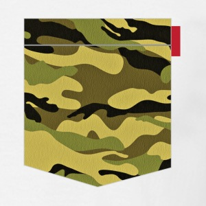 Green Yellow Camo Patch T-Shirts - Men's T-Shirt