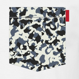 Navy Camo Pocket Patch T-Shirts - Men's T-Shirt