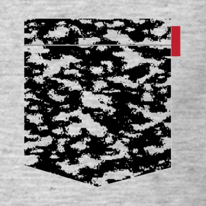 Black Snow Camo Patch T-Shirts - Men's T-Shirt