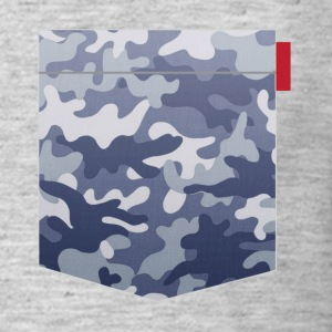Blue Camo Pocket Patch T-Shirts - Men's T-Shirt