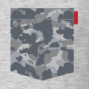 Digital Urban Camo Patch T-Shirts - Men's T-Shirt