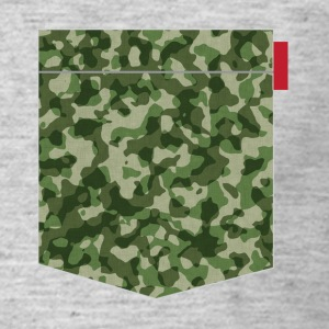 Woodland Camo Patch T-Shirts - Men's T-Shirt