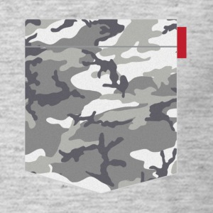 Grey Urban Camo Pocket T-Shirts - Men's T-Shirt