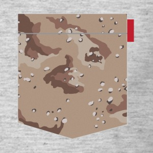 Desert Camo Pocket Patch T-Shirts - Men's T-Shirt