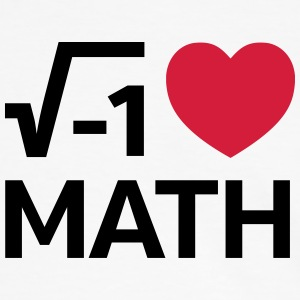 I Love Math T-Shirts - Männer Kontrast-T-Shirt