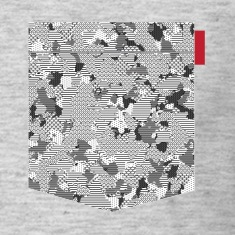 B&W Digital Camo Patch T-Shirts