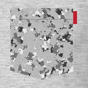 B&W Digital Camo Patch T-Shirts - Men's T-Shirt