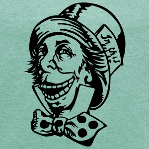 Mad hatter troll face T-Shirts - Women's T-shirt with rolled up sleeves