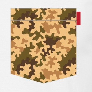 Brown Orange Camo Pocket Patch T-Shirts - Men's T-Shirt
