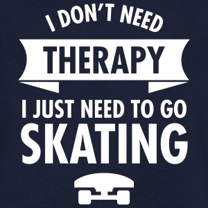 I Don't Need Therapy I Just Need To Go Skating Koszulki - Koszulka męska Canvas z dekoltem w serek