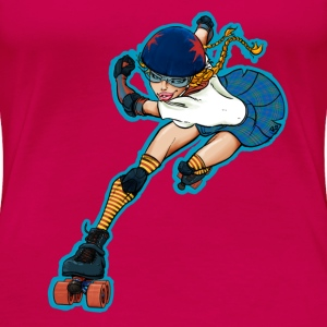 Roller Girl Action - Frauen Premium T-Shirt