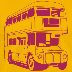 London-Bus (sw) T-Shirts - Männer Premium T-Shirt