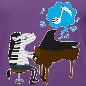 Purple A zebra playing the piano Tops - Women's Premium Tank Top