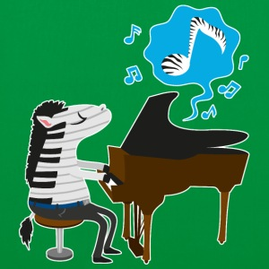 Vert A zebra playing the piano Sacs et sacs à dos - Tote Bag