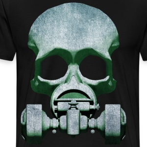 Steampunk Skull Gas Mask T-Shirts - Men's Premium T-Shirt