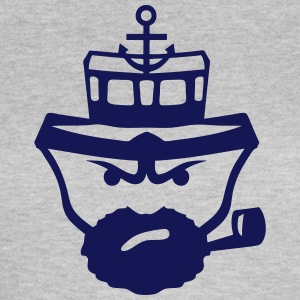 Person sailor pipe beard anchor boat T-Shirts - Women's T-Shirt